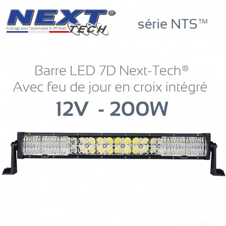 Barre LED 4x4 7D 12v 200W - 550mm - série NTS™