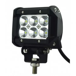 Feu LED moto - Phare LED - 18W - 95mm - Carré
