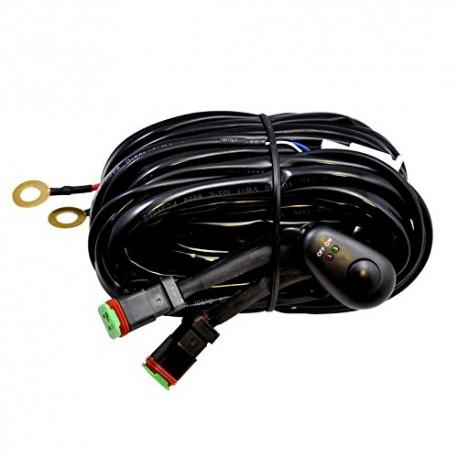 Faisceau électrique double - cable relais - pour rampes LED et barres LED