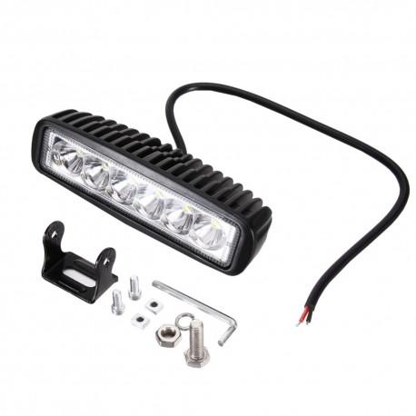 Phare additionnel LED - Feu LED - 18W - 6 leds - 160mm