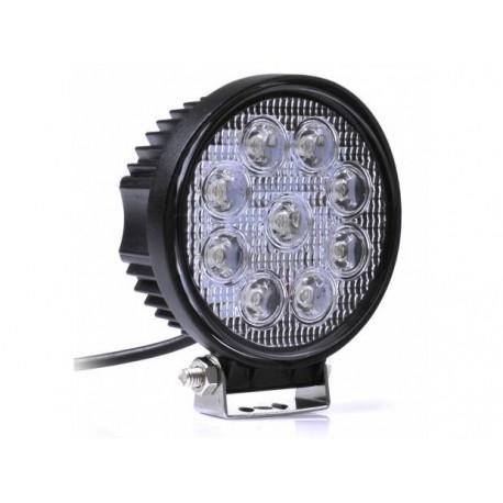Projecteur de travail LED - 27W - 110mm - rond - universel