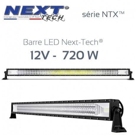 Barre LED automobile et 4x4 12v 720W - 1250mm - série NTX™