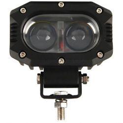 Phare LED 4x4 - Longue portée - 30W - Rectangulaire - 140mm